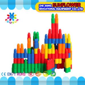 Children Plastic Desktop Toy Bullet Building Blocks