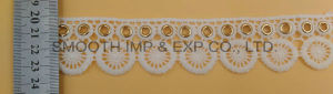 Fashion Embroidery Lace Eyelet Clothing Textile Accessories Water Soluble Fabric pictures & photos