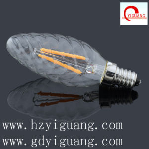Amber Flame Bent Tip LED Light Bulb C35 pictures & photos