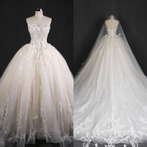 Strapless Wedding Dresses Bridal Gown Made in China Qh66004 pictures & photos