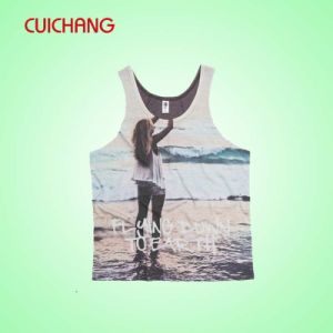 Wholesale Cotton Silk Screen Printing/Embordery / Sublimation Custom Design Sports Wear Women Gym Singlet Tank Top
