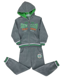 Cotton Boy Track Suits Set in Children Clothes in Cardigan Hooded Boy Suits Swb-107 pictures & photos