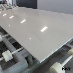 Kitchen Counter Top Pure White 20mm Artificial Quartz Slab pictures & photos