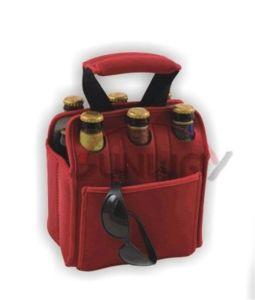 Neoprene 6-Pack Beer Bottle Tote Bag, Bottle Cooler Bag (BC0054) pictures & photos