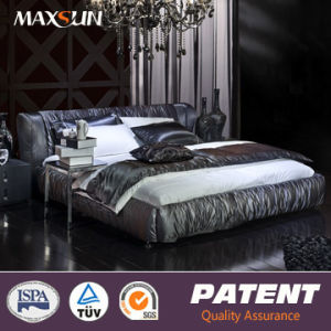 Modern Upholster Fabric Bed (Ast-07506)