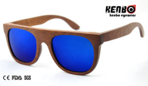 Hot Real Wood Sunglasses with 1.1mm Polarized Real Lens CE. FDA. Kw030 pictures & photos