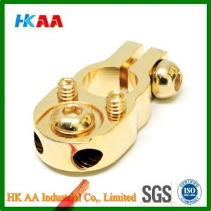 Gold Plated Solid Brass Battery Terminal pictures & photos