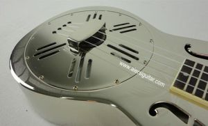 China Aiersi High Quality F Hole Copper Body Resonator Ukulele pictures & photos