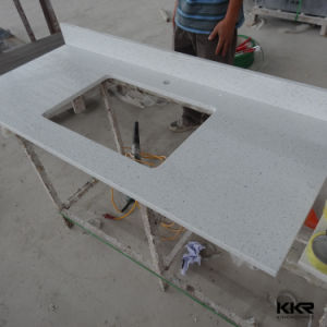 Customized Solid Surface Tesin Stone Kitchen Countertop pictures & photos