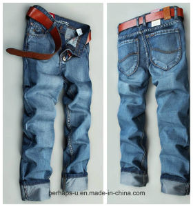 Fashion Men′s Jeans Korean Straight Slim Denim Pants pictures & photos
