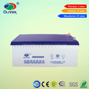 Oliter Energy 12V 200ah Solar Power Battery with High Quality pictures & photos