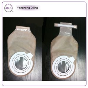 Disposable 2-Pieces Opend Bag Adhesive Open Colostomy Bags pictures & photos