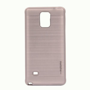 PC+TPU Wire Drawing Steel Mobile Back Cover Shell Protector Shockproof for Motorola G4 Plus Case pictures & photos