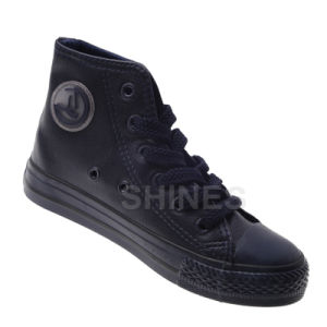 Ob PU Fashion High Top Vulcanized Shoes pictures & photos