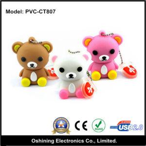 1-64GB Promotin Gift Bear Shape Rubber USB Flash Drive (PVC-CT807)