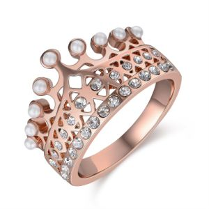 New Model Crown Jewelry Rose Gold Fashion Ring pictures & photos