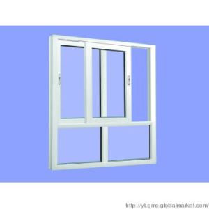 Sliding Window in UPVC Profile with Double Glass or Single Glass