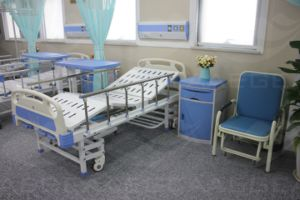 Five Functions Wooden Central-Controlled Brakes Electric Hospital Bed (AG-BY002) pictures & photos