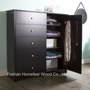 Amazing Bedroom Furniture 5 Drawer Wooden Dresser in Black pictures & photos