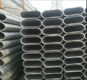 Pre-Galvanized Flat Oval Steel Pipe/Tube/Welded Pipe pictures & photos