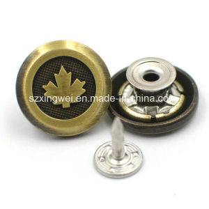 Custom Flag Logo Metal Zinc Alloy Jeans Button pictures & photos
