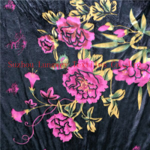 Back Side Burn out Discharge Printed Silk Velvet