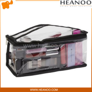 Small Clear PVC Plastic Cosmetic Train Case Travel Makeup Bag pictures & photos