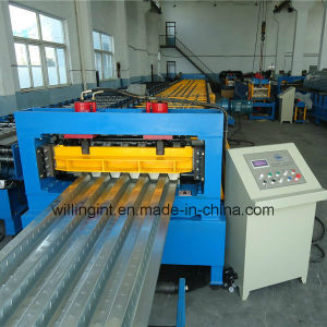 Steel Floor Deck Post Cutting Cold Roll Forming Machine pictures & photos