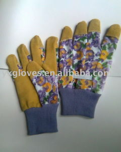 Garden Glove-Pig Split Garden Glove-Working Glove-Safety Glove-Industrial Glove-Leather Working Glove pictures & photos