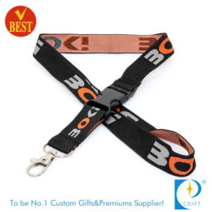 High Quality Newest Woven Lanyard with Safety Clasp pictures & photos