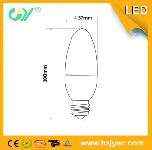 Popular Sale LED Bulb Light C37 3W 5W 6W E14 E27 37*100mm pictures & photos