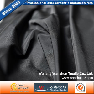 Luxury Memory Pure Black Garment Fabric 2/2 Twill Coloured Woven