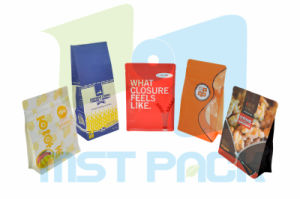 Flat Bottom Pouch; Food Package Gusseted Bag pictures & photos