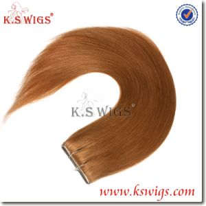 Factory Whole Price PU Skin Weft Remy Human Hair Extension pictures & photos