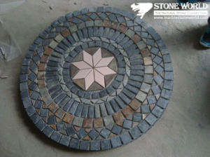 Slate Mosaic Medallion Stone Pattern for Flooring pictures & photos
