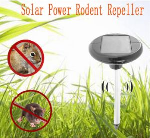 Garden Mice Repellent Ultrasonic Waves Solar Power Outdoor Gopher Rodent Mole Repeller pictures & photos