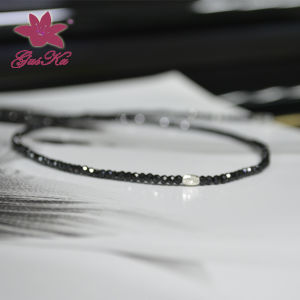 The Newest Design Black Spinel Necklace Gus-Fsn-001 pictures & photos