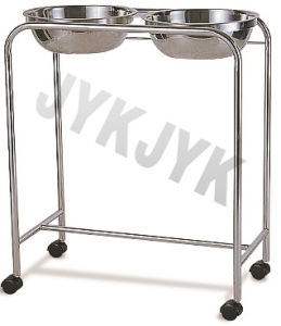 Stainless Steel Trolley with Double Basin pictures & photos