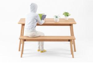 Popular Modern Oak Wooden Kitchen Walnut Dinner Dining Table pictures & photos
