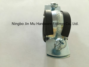 Corrosion Resistance 1 - 1/4 Inch Rubber Pipe Clamp with 8 - 10 Micron Electro Galvanized pictures & photos