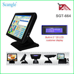Scangle 15inch Restaurant POS System with VFD Customer Display pictures & photos