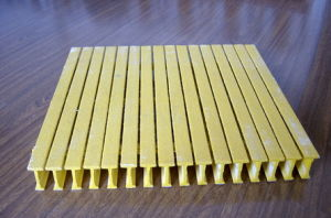 FRP/GRP Pultrusion Grating, Fiberglass Gritted Pultruded Grating pictures & photos