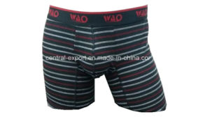New Style Yarn-Dye Stripes Men′s Boxer Short Underwear pictures & photos