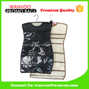 Durable Nylon Fabric Hanging Wall Storage Organizer with PVC Pockets pictures & photos