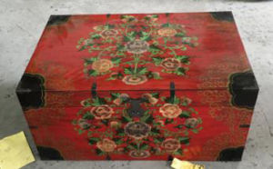 Chinese Antique Painted Lift Top Trunk pictures & photos