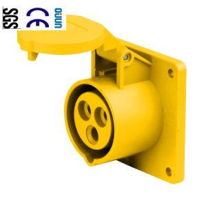 Industrial Socket (QJ-N313-4) of IP44 16A 2p+E Plastic PA66