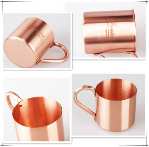 2015 Simple Design Style Copper Mug with Logo Printing for Sale pictures & photos