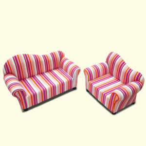 Round Back Children Furniture/Baby Chair/Fabric Sofa (SXBB-13-01) pictures & photos