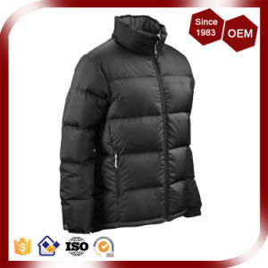 Men Black Colour Light Weight Down Jacket pictures & photos