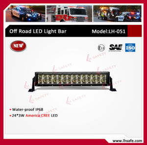 72W LED Working Light Bar (LH051) pictures & photos